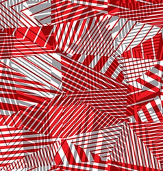 Geometric lined seamless pattern vector image