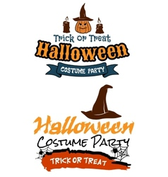 Halloween holiday party banners vector image