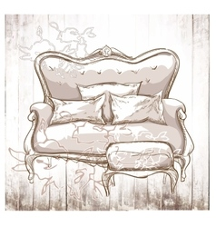 Hand made vecor sketch of cozy interior elements vector image