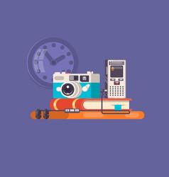 journalist paparazzi profession journalist vector image vector image