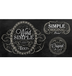Vintage frame with ornaments vector