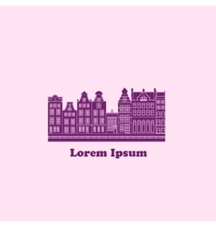 Background with town label vector