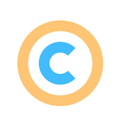 Copyright sign or symbol flat icon vector