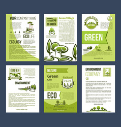 ecology green city eco business poster template vector image vector image