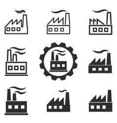 Factory icon set vector image vector image