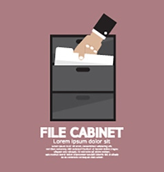 Hand Picking A Document From A File Cabinet vector image vector image