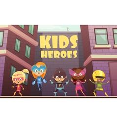 Kids Superheroes Cartoon vector image vector image