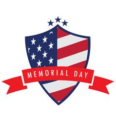 memorial day label vector image