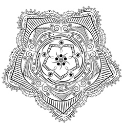 Monochrome Floral Background Hand Drawn Ornament w vector image vector image