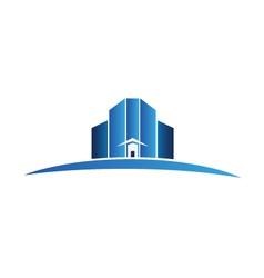 Buildings apartments logo vector image