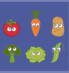 cartoon vegetable cute vector image