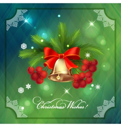 Christmas Holidays Frame Card with Decorations vector image vector image