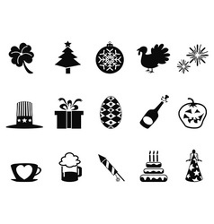 holiday and event icons set vector image vector image