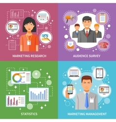 Marketing Method Flat vector image