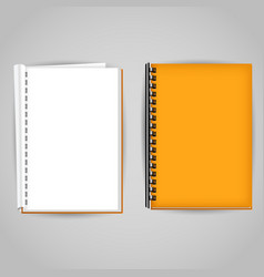 yellow brochure covered and open vector image vector image