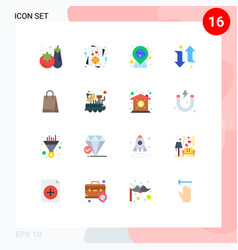 16 flat color concept for websites mobile and vector