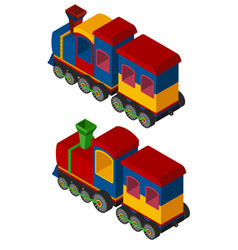 3d design for trains vector