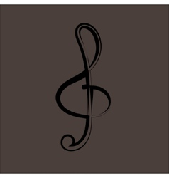 A black clef isolated on white vector