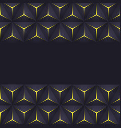 abstract dark triangle frame background vector image