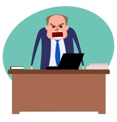 Angry boss yelling vector image
