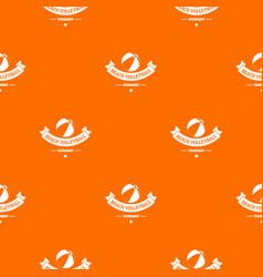 beach volleyball pattern orange vector image