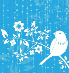 bird decoration vector image