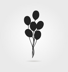 Black air balloon icon with shadow vector