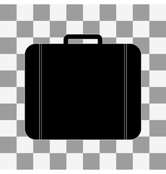 Black Bag Icon on transparent vector