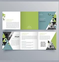 brochure design 728 vector image