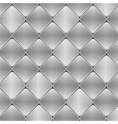 Brushed metal mosaic tile background vector