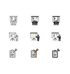 business team financial advisor business plan vector image