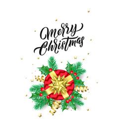 christmas gift golden sparkling stars confetti vector image