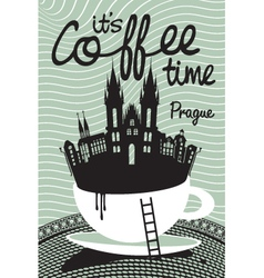 coffee on Prague vector image