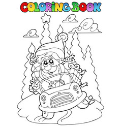 Coloring book christmas topic 5 vector