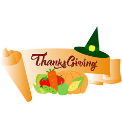 colourfull banner for thanksgiving day vector image