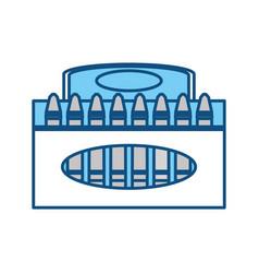 Crayons in box vector