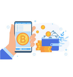 cryptocurrency stock exchange mobile application vector image