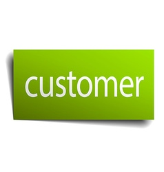 customer green paper sign on white background vector image