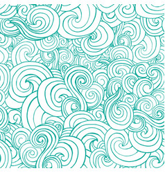 decorative ornamental turqiouse or blue waves in vector image