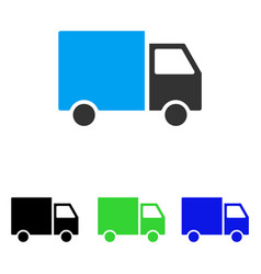 Delivery van flat icon vector