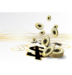 digital currency financing golden coin saving vector image