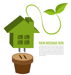 Ecology house background vector