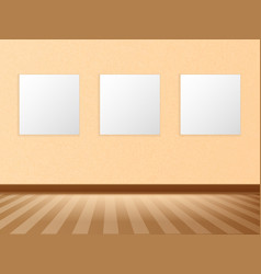 empty white a4 sized paper frame mockup vector image