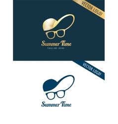 Face with glasses and cap logo icon template vector