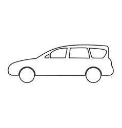 family car icon vector image