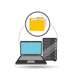 file laptop data server vector image