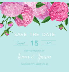 Floral wedding invitation or congratulation card vector