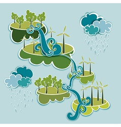 Go green energy concept vector