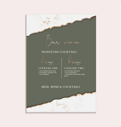 Green wedding invitation greeting posters modern vector