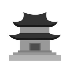 grey chinese pagoda temple graphic vector image
